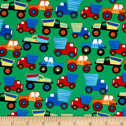 Michael Miller Little Movers Little Movers Green Fabric