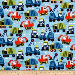 Michael Miller Little Movers Build More Nite Fabric