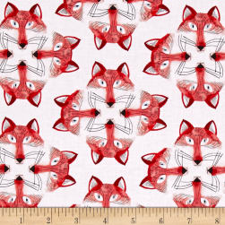 Michael Miller Foxy Fellas Out Foxed White