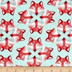 Michael Miller Foxy Fellas Out Foxed Mist Fabric