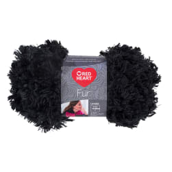 Red Heart Fur Yarn Slate