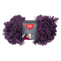 Red Heart Fur Yarn Eggplant