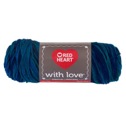 Red Heart With Love Cerulean