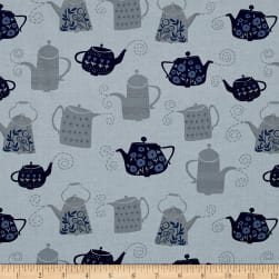 Dear Stella Tea Party Tea Pots Steam Fabric