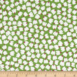 Dear Stella Blossom Flower Buds Lime Fabric