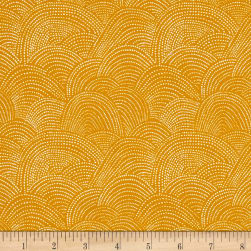 Dear Stella Honey Bee Scallop Dot Corn Fabric