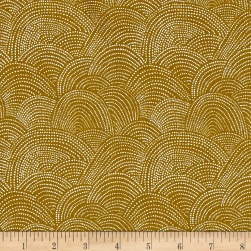 Dear Stella Honey Bee Scallop Dot Dijon Fabric