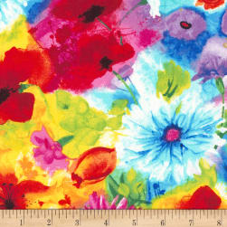 Timeless Treasures Ambrosia Mixed Floral Multi Fabric