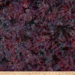 Malam Batiks Floral Bloom Granite Fabric