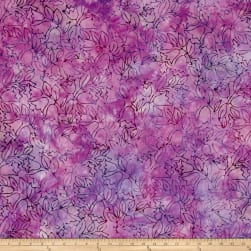 Malam Batiks Tulips Peppermint Fabric