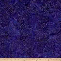 Malam Batiks Squiggle Wave Plum Fabric