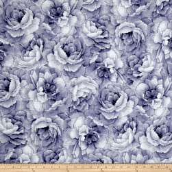 Belleflower Large Tonal Floral Lilac Fabric
