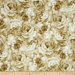 Belleflower Large Tonal Floral Cream Fabric