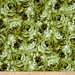 Belleflower Large Tonal Floral Chartreuse Fabric