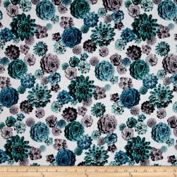 Agave Tossed Succulents Spearmint Fabric
