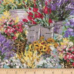 Timeless Treasures Flower Market Flower Market Flower Fabric