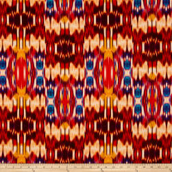 Tango Digital Print Abstract Ikat Flame Fabric