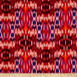 Tango Digital Print Abstract Ikat Sunset Fabric