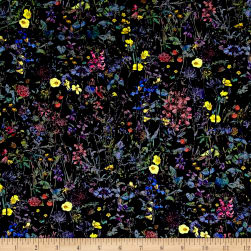 Liberty Fabrics Wild Flowers Lawn Navy/Multi Fabric
