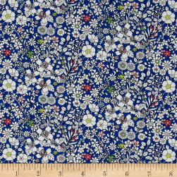 Liberty Fabrics Junes Meadow Lawn Blue Fabric