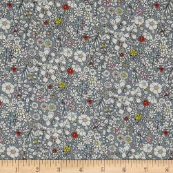 Liberty Fabrics Junes Meadow Lawn Grey Fabric