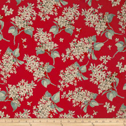 Liberty Fabrics Archive Lilac Lawn Coral Fabric