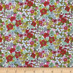 Liberty Fabrics Flower Tops Lawn Coral