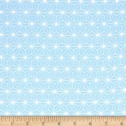 Avalana Jersey Knit Flower Geometric Blue Fabric
