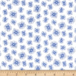 Avalana Jersey Knit Bursting Star White Fabric
