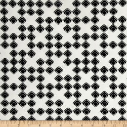 Avalana Jersey Knit Squares Black/White