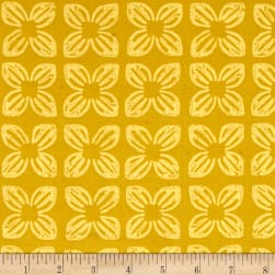 Michael Miller Seedlings 2 Block Flower Bronze Fabric