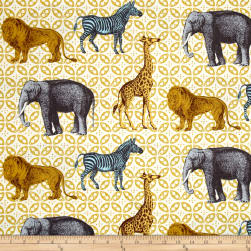 Michael Miller Seedlings 2 Animal Bazaar Bronze Fabric