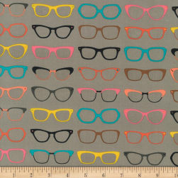 Kaufman Spectacular Glasses Taupe Fabric