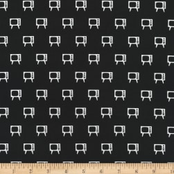 Kaufman Let Me Entertain You TV Black Fabric