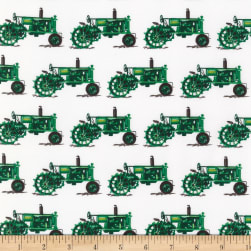 Kaufman Everyday Favorites Tractors Green Fabric