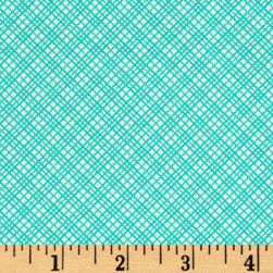 Kaufman Playing With Shadows Grid Turquoise