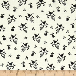 Kaufman Playing With Shadows Birds Black Fabric