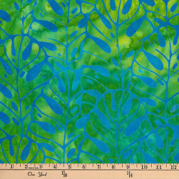 Kaufman Artisan Batiks Totally Tropical Fern Stripe Island