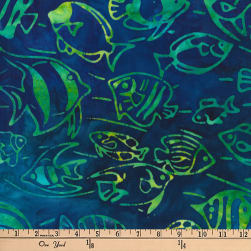 Kaufman Artisan Batiks Totally Tropical Fish Caribbean Fabric