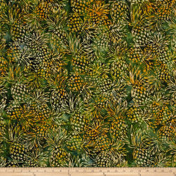 Kaufman Artisan Batiks Totally Tropical Pineapples Bamboo