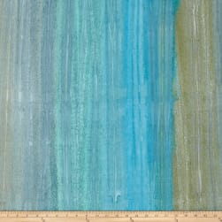 Kaufman Artisan Batiks Patina Handpaints Stripes Aqua Fabric