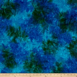 Kaufman Artisan Batiks Patina Handpaints Mottled Cobalt Fabric