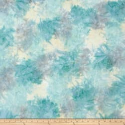 Kaufman Artisan Batiks Patina Handpaints Mottled Glacier Fabric