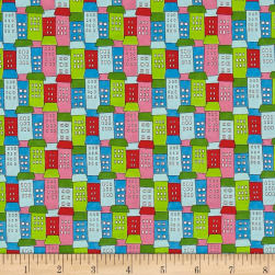 Down Town Kitty Stacked Homes Multi Fabric