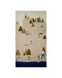 Little Ollie Camping Scenic Brown Fabric