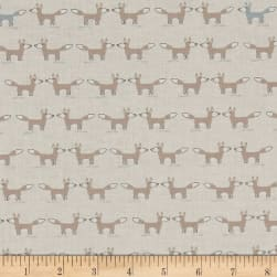 Woodie Winterland Foxes Cream Fabric