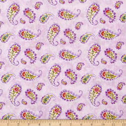 Rainbow Seeds Paisley Purple Fabric