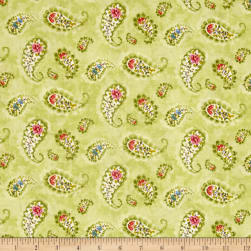 Rainbow Seeds Paisley Green Fabric