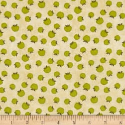 The Way Home Apples Allover Tan Fabric