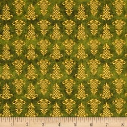 The Way Home Pineapple Icon Green Fabric